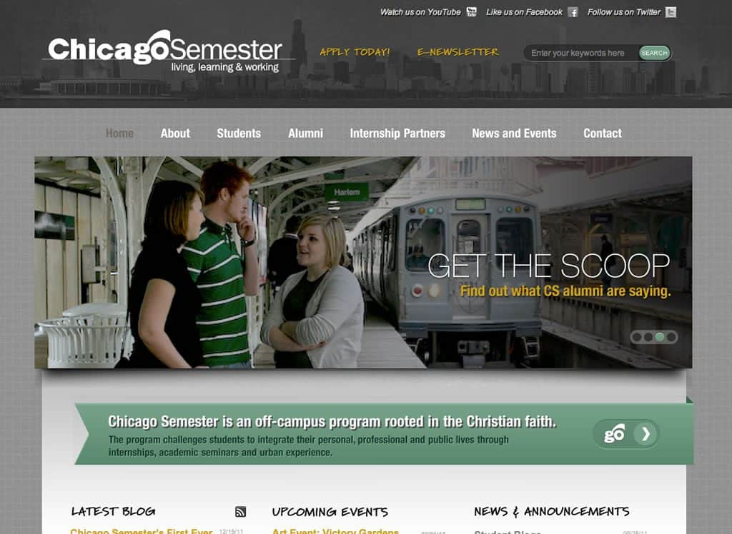 Chicago Semester Website Design