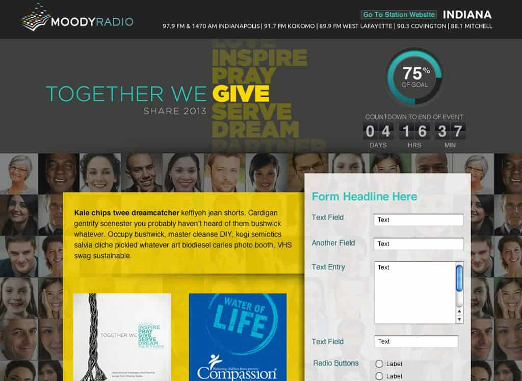 Moody Share Campaign Website
